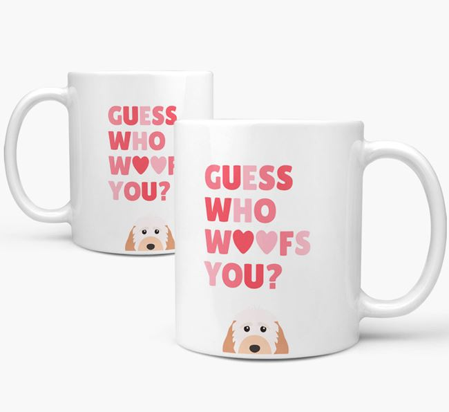 'Guess Who Woofs You' Mug With Cockapoo Icon