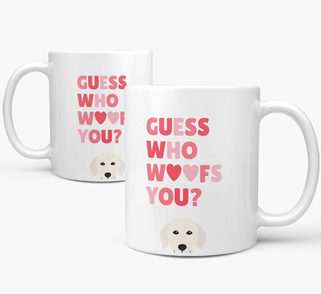 'Guess Who Woofs You' Mug With Golden Retriever Icon