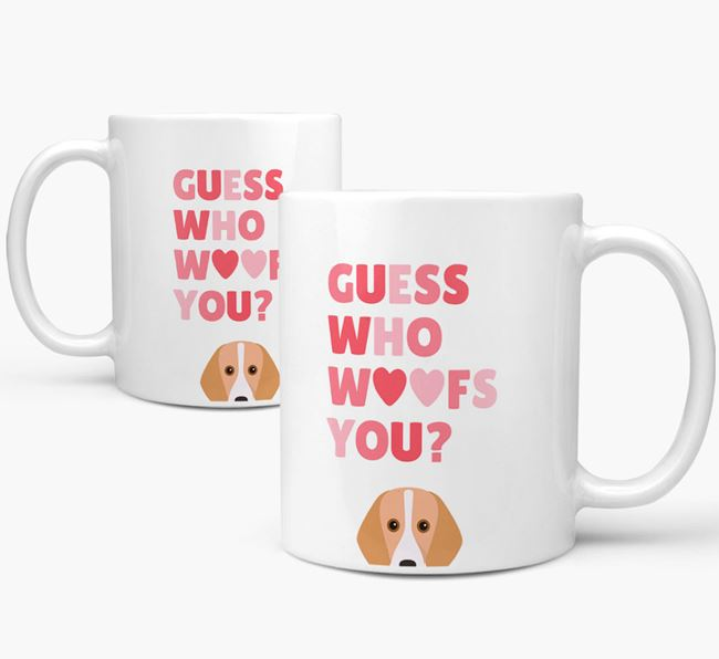 'Guess Who Woofs You' Mug With Harrier Icon