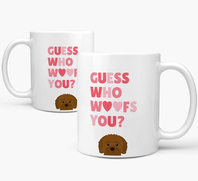 'Guess Who Woofs You' Mug With Jack-A-Poo Icon