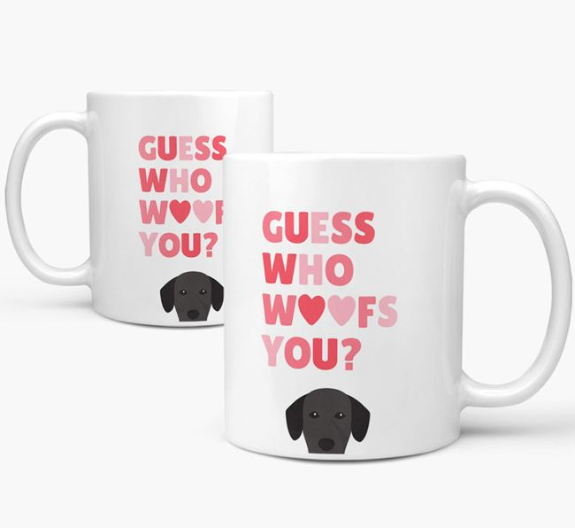 'Guess Who Woofs You' Mug With Springador Icon