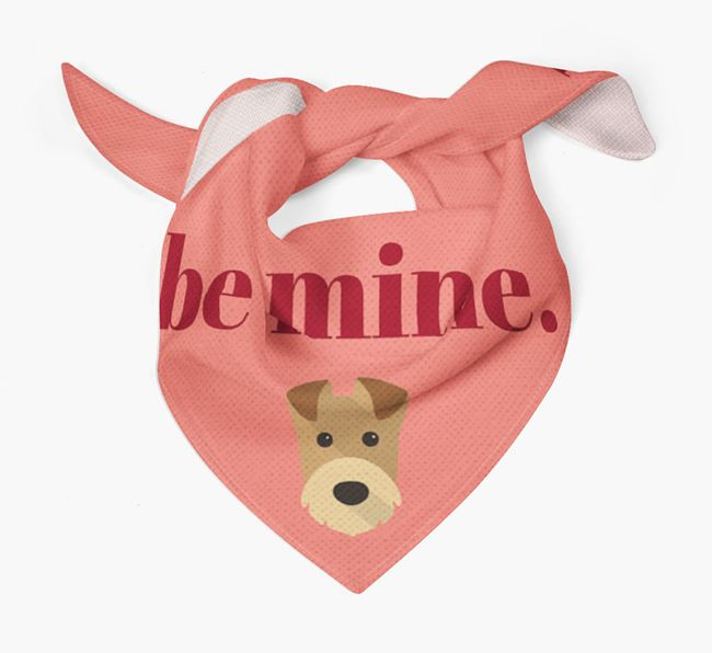 'Be Mine' Bandana with Airedale Terrier Icon