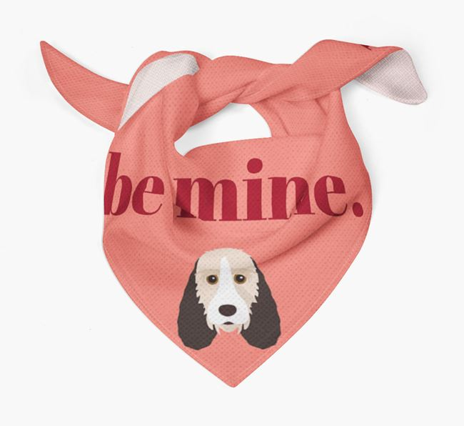 'Be Mine' Bandana with Grand Basset Griffon Vendeen Icon