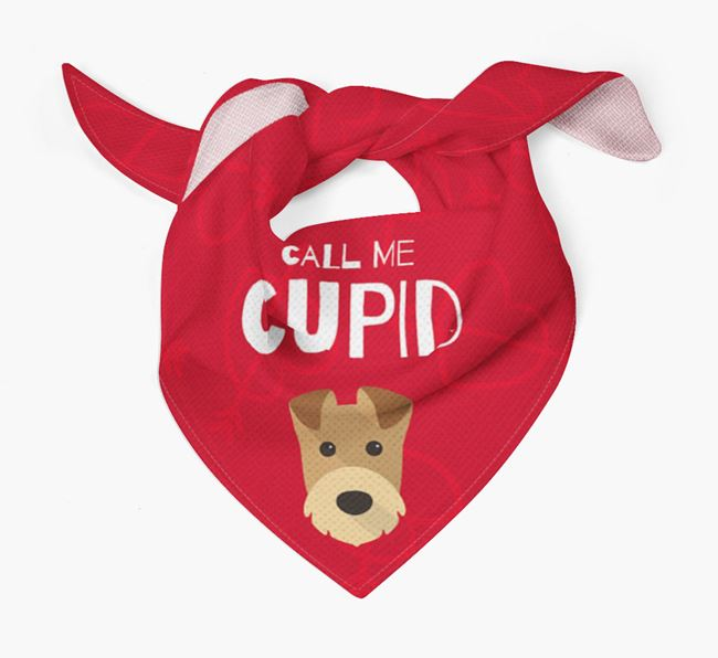 'Call Me Cupid' Bandana with Airedale Terrier Icon