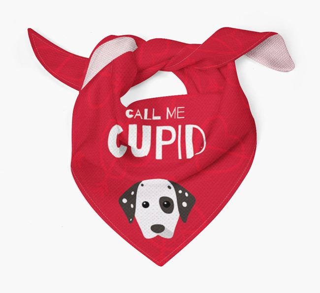 'Call Me Cupid' Bandana with Dog Icon