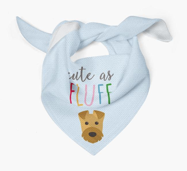 'Cute As Fluff' Bandana with Airedale Terrier Icon
