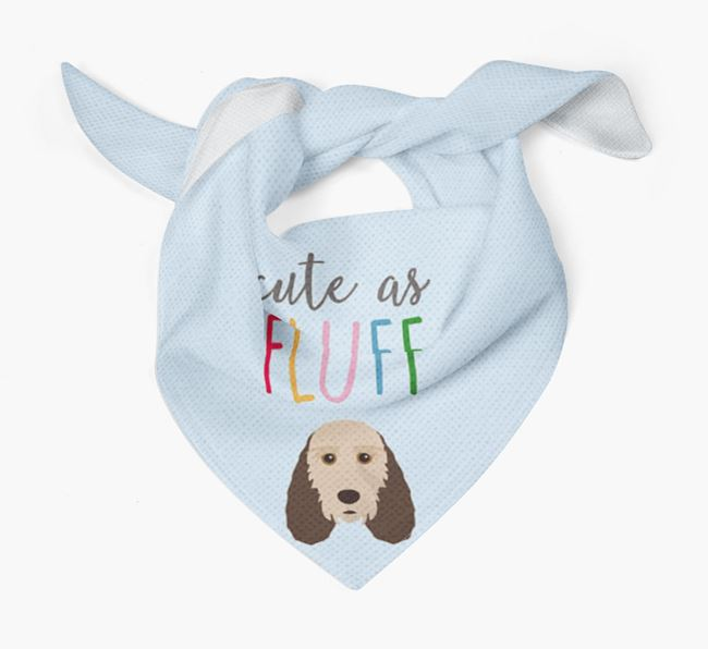 'Cute As Fluff' Bandana with Grand Basset Griffon Vendeen Icon