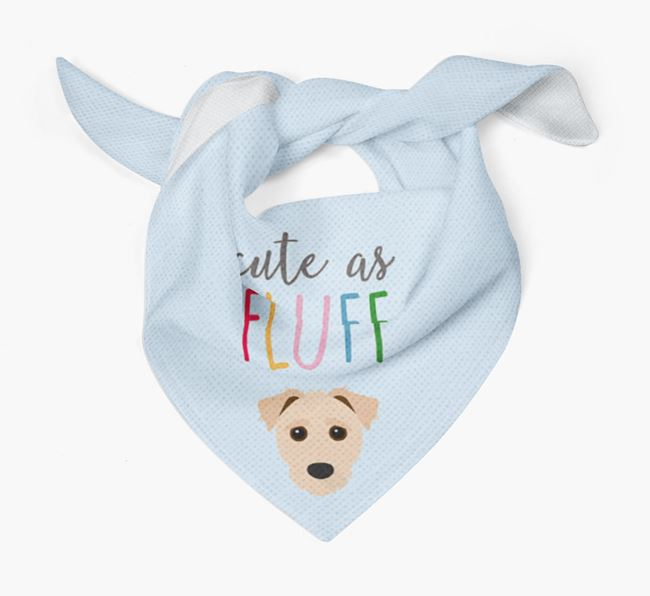 'Cute As Fluff' Bandana with Jack-A-Poo Icon