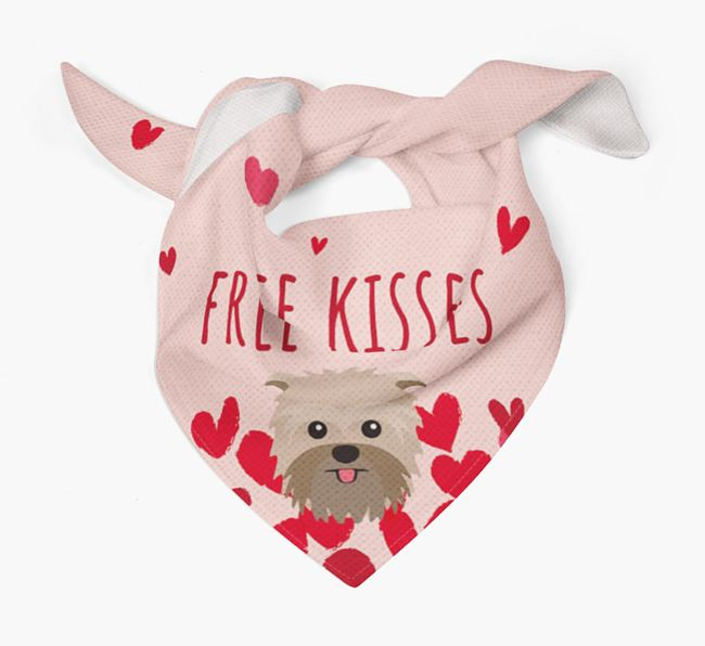 'Free Kisses' Bandana with Affenpinscher Icon