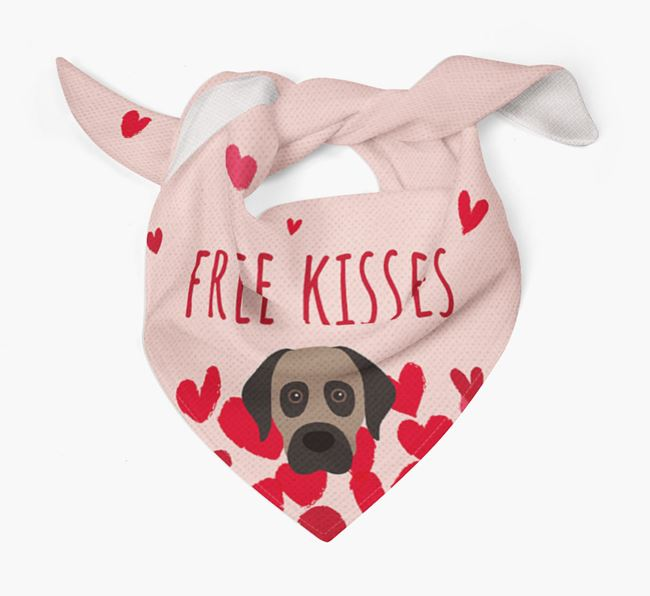 'Free Kisses' Bandana with Anatolian Shepherd Dog Icon