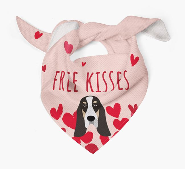 'Free Kisses' Bandana with Basset Bleu De Gascogne Icon