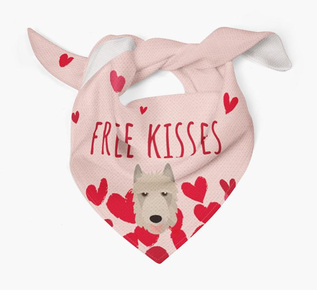 'Free Kisses' Bandana with Belgian Laekenois Icon
