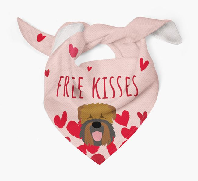'Free Kisses' Bandana with Black Russian Terrier Icon