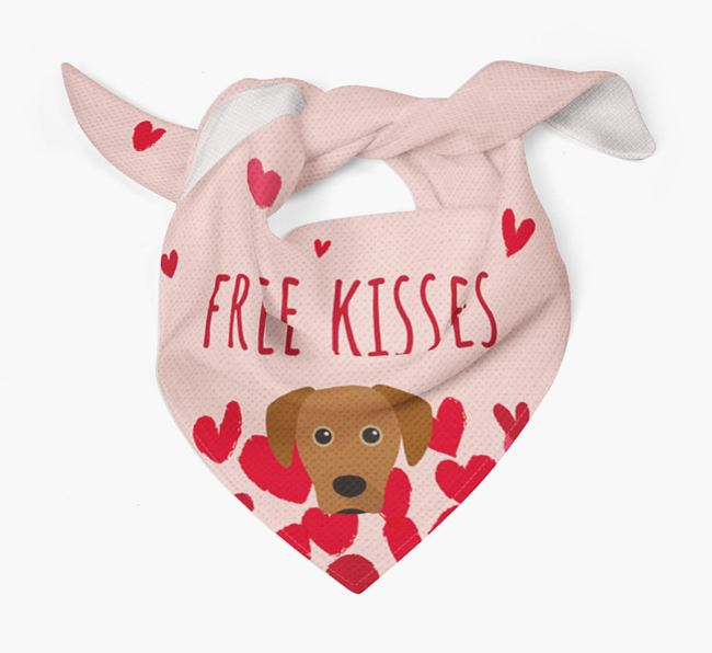 'Free Kisses' Bandana with Blue Lacy Icon