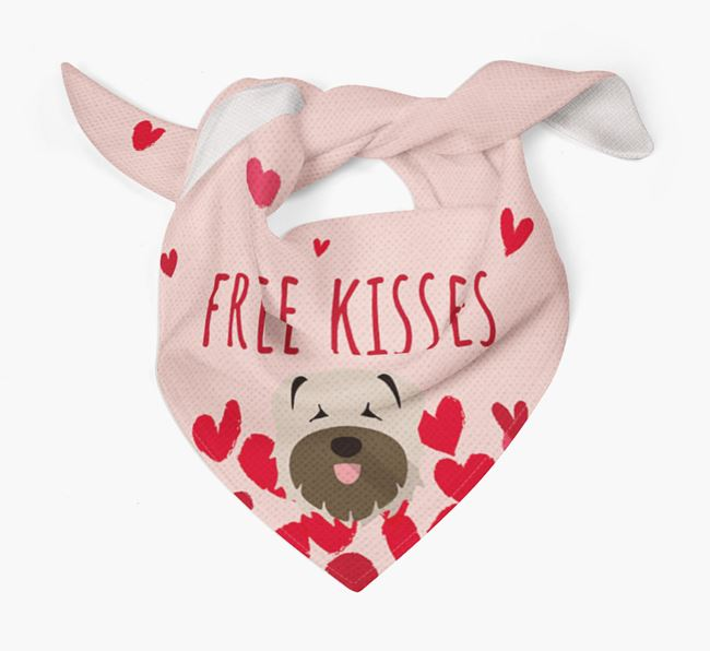 'Free Kisses' Bandana with Bouvier Des Flandres Icon