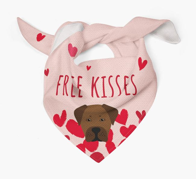 'Free Kisses' Bandana with Boxador Icon