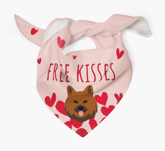 'Free Kisses' Bandana with Chow Shepherd Icon