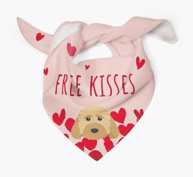 'Free Kisses' Bandana with Dog Icon