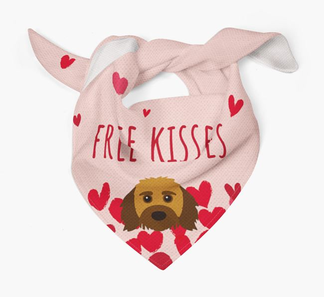 'Free Kisses' Bandana with Doxiepoo Icon