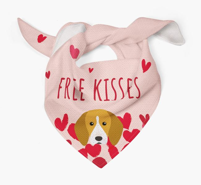 'Free Kisses' Bandana with English Coonhound Icon