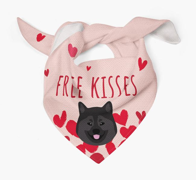 'Free Kisses' Bandana with Eurasier Icon