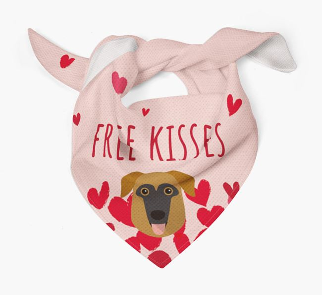 'Free Kisses' Bandana with German Sheprador Icon