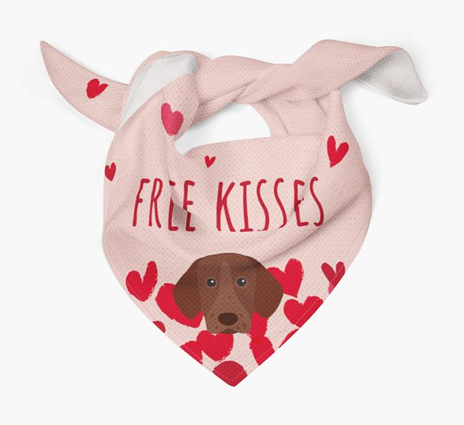 'Free Kisses' Bandana with German Shorthaired Pointer Icon