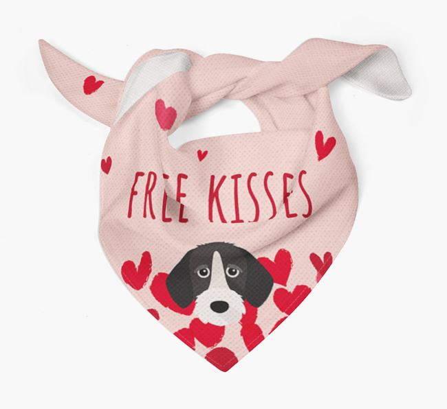 'Free Kisses' Bandana with German Wirehaired Pointer Icon