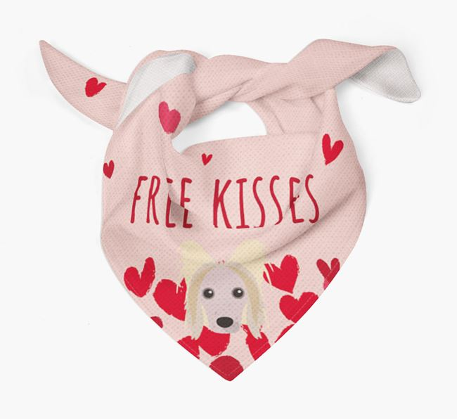 'Free Kisses' Bandana with Hairless Chinese Crested Icon
