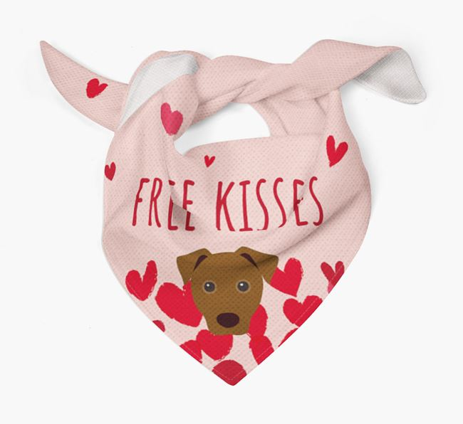 'Free Kisses' Bandana with Jack Russell Terrier Icon