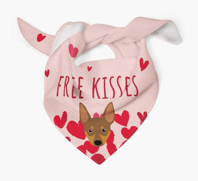 'Free Kisses' Bandana with Miniature Pinscher Icon