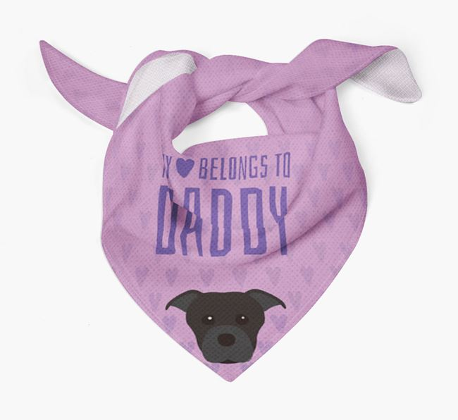 'My Heart Belongs to Daddy' Bandana with Dog Icon