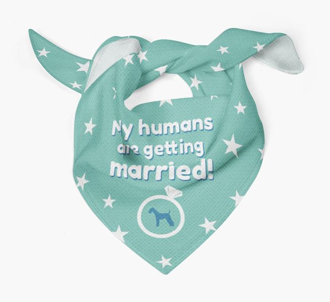 'My Humans are Getting Married' Bandana with Airedale Terrier Silhouette