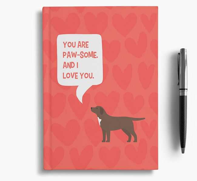 'You are paw-some' Notebook with Springador Icon
