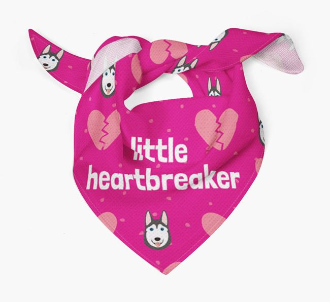 'Little Heartbreaker' Bandana with Dog Icon Pattern
