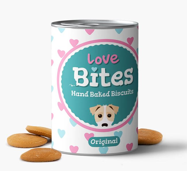 'Love Bites' Hand Baked Biscuits for your Jack-A-Poo