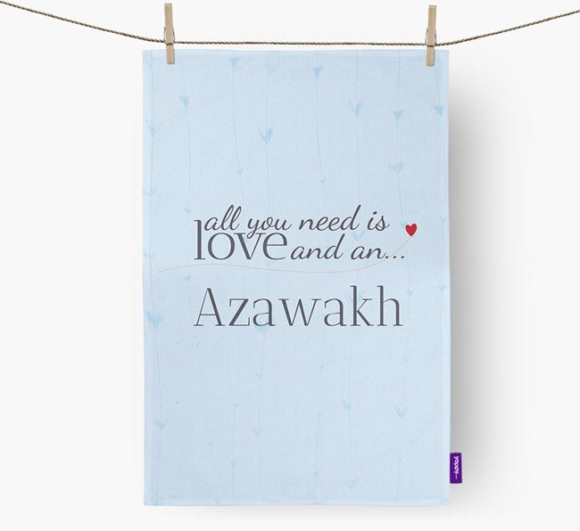 All you need is love and an Azawakh tea towel