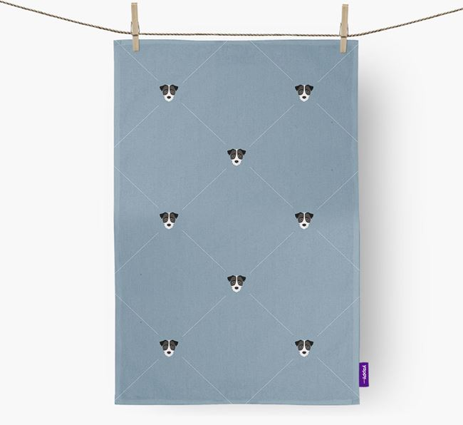 Jack-a-Poo Diamond Pattern Tea Towel