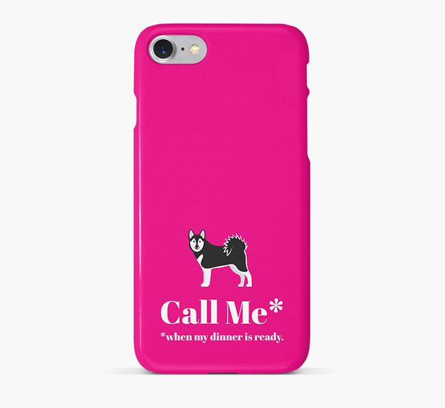 Call me for Dinner' Phone Case with Alaskan Klee Kai Icon