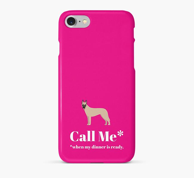 Call me for Dinner' Phone Case with Belgian Malinois Icon