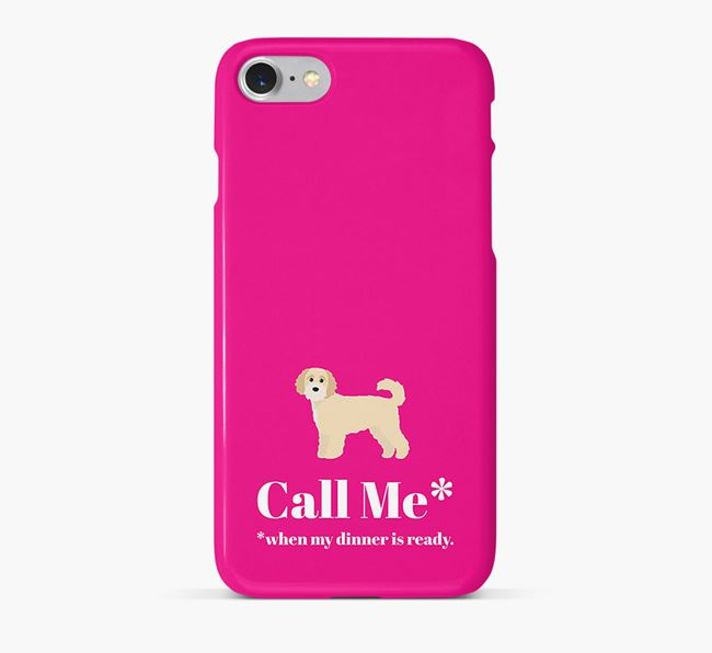 'Call me for Dinner' Phone Case with Cavapoochon Icon