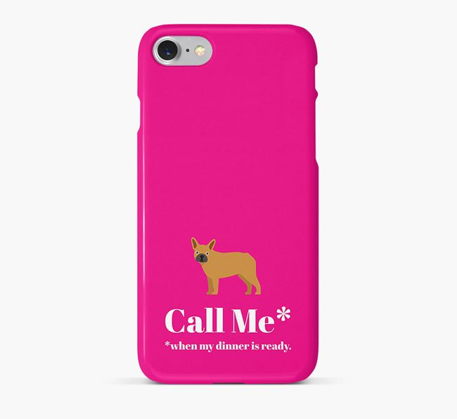 'Call me for Dinner' Phone Case with French Bulldog Icon
