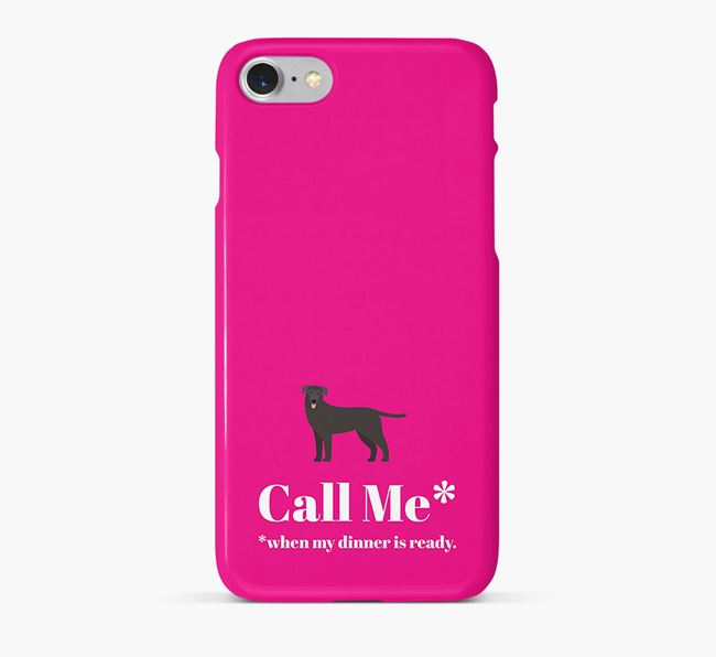 'Call me for Dinner' Phone Case with German Sheprador Icon