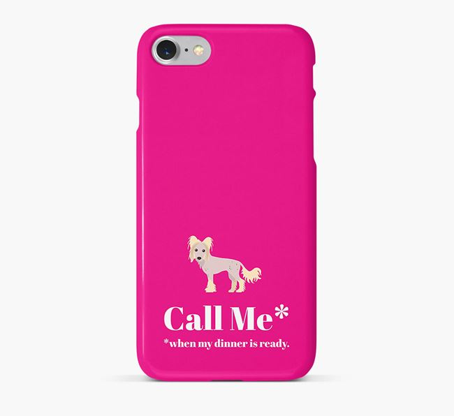 'Call me for Dinner' Phone Case with Hairless Chinese Crested Icon