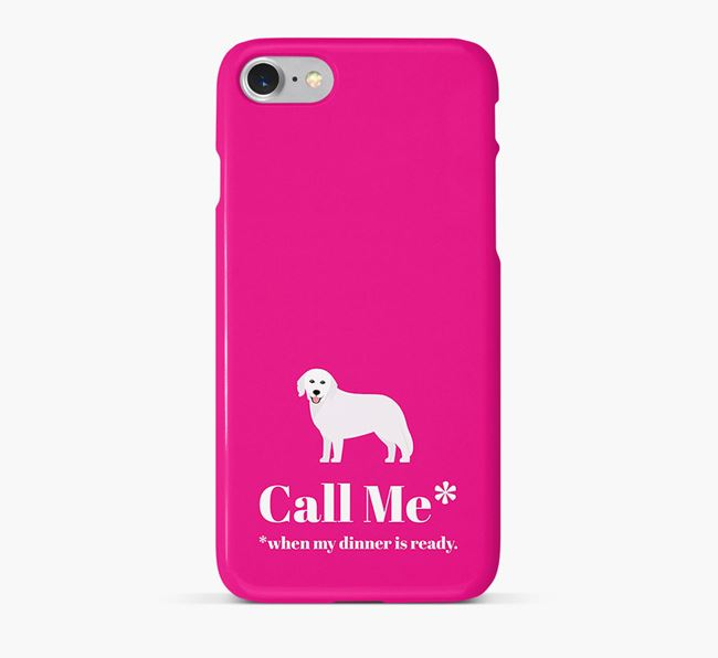 Call me for Dinner' Phone Case with Hungarian Kuvasz Icon