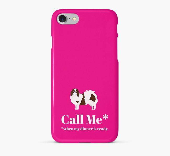 Call me for Dinner' Phone Case with Japanese Chin Icon