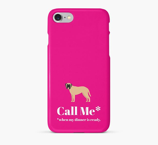 Call me for Dinner' Phone Case with Mastiff Icon