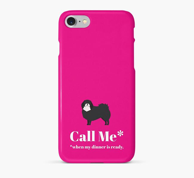 Call me for Dinner' Phone Case with Pekingese Icon