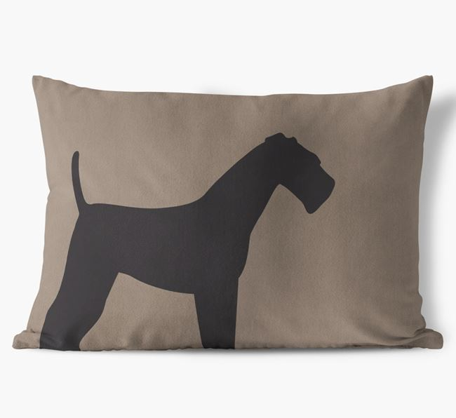 Airedale Single Silhouette Faux Suede Cushion