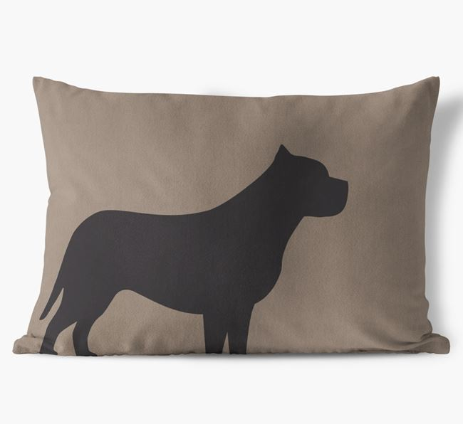 Pit Bull Terrier Single Silhouette Faux Suede Pillow